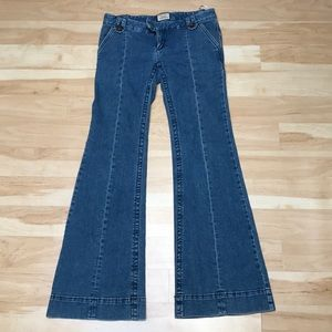 Free people low rise wide leg jeans